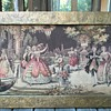Jaquard Tapestry in Embossed Copper Frame