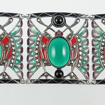 Deco Plique a Jour Enamel Bracelet - Fine Jewelry