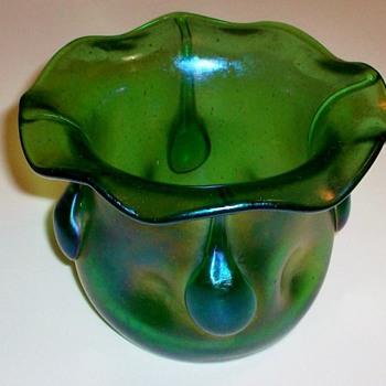 Loetz Vesuvian Vase. - Art Glass