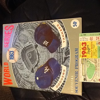 1963 World Series Souvenir Program and Ticket Stub - Baseball
