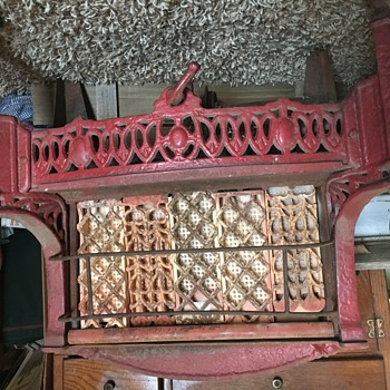 Antique Red Cast Iron Heater - Tools and Hardware