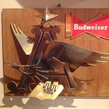 Budweiser  Plaque 1957 - Breweriana