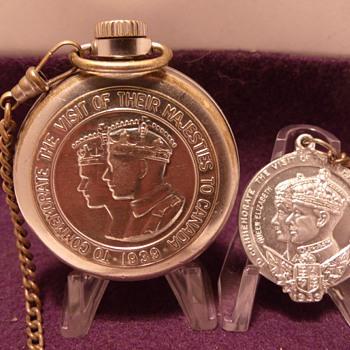 "1939 Westclox ""Royals"" Canadian Tour Pocket Watch"