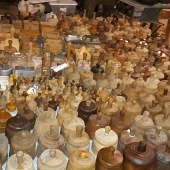 Largest collection of butter molds, presses and stamps i have ever seen - Kitchen