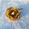 Vintage 1962 Boucher Rose Brooch with Pearl in Center
