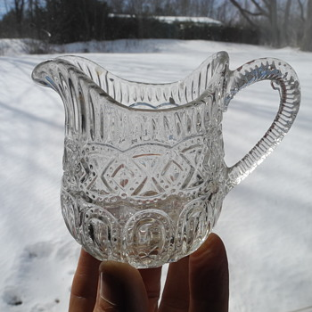 Angus and Greener pressed glass creamer circa 1867. - Glassware