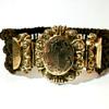 Antique Victorian  Braided Hair Work Mourning Bracelet