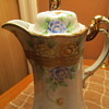 """Nippon Chocolate Pot ...Gilted Gold Moriage. Hand Painted Floral. Stunning 9"""""""