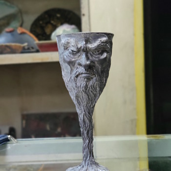 Royal Selangor Graeme Anthony Lord of the Rings 'Sauron' Pewter Goblet - Kitchen