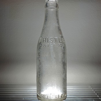 Whistle Bottling Company Soda Bottle Vintage Clear Embossed 6 1/2 Ounces Antique D.O.C. Dominick O. Cunningham - Bottles