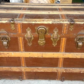 Circa 1910+ Roll top trunk  R.H. Macy & Co - Furniture