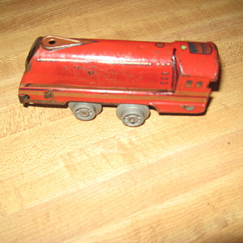 1952 English clockwork toy train..