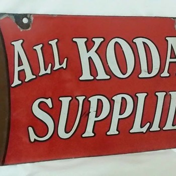 RARE DOUBLE SIDED KODAK PORCELAIN SIGN