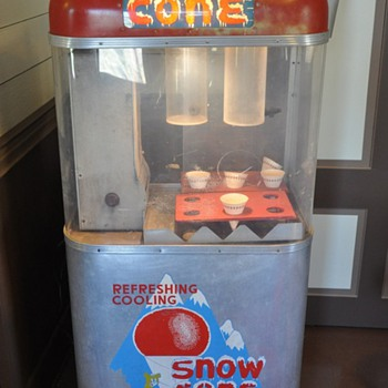 Old snow cone machine - Advertising