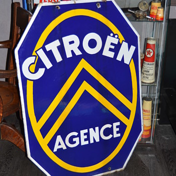 citroen agence porcelain sign - Advertising