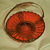 Baccarat Reddish Brown Glass and Ormolu Basket