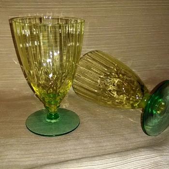 Aunt Lucy's Vaseline glasses - Glassware