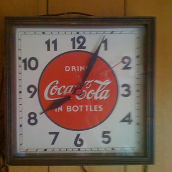 Vintage Coca-Cola clock
