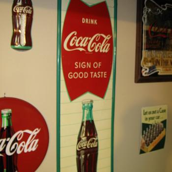 1960's  Coca-Cola Sign - Coca-Cola