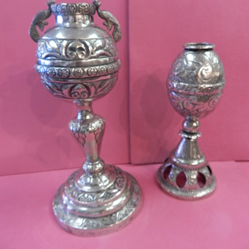 Solid Silver South American(?) Religious Items - Silver