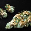 DeLizza & Elster Green Confetti (?) Stone Gold Leaf Set