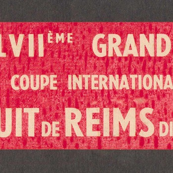 1961 - Grand Prix de L'A.C.F. Race Decal - Advertising