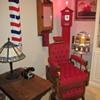 Antique tiger oak medicine/ barber shop cabinet.