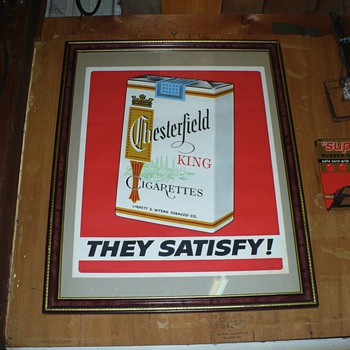 Chesterfield poster - Tobacciana