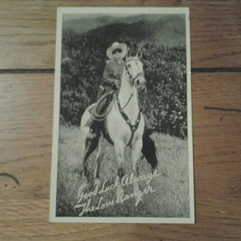 Lone Ranger Promo Postcard  by Silvercup Bread - Postcards