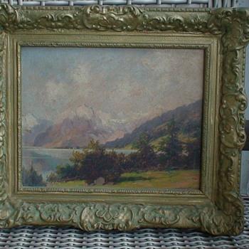 Lake Konigssee Bavaria Berchtesgadener Painting - Fine Art