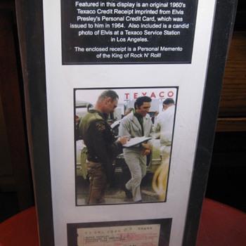 Elvis Presley  .  .  .  Imprinted Credit Card Receipt - Music Memorabilia