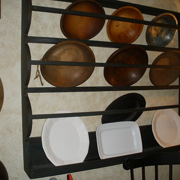 Wooden bowl rack and bowls - Kitchen