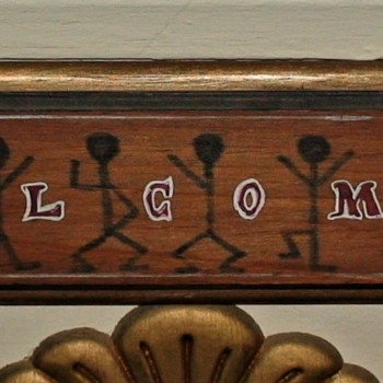 """""""The Dancing Men"""" Sherlock Holmes Hieroglyphs Spelling Out """"Welcome"""""""