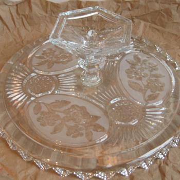antique or vintage  pedestal salver - Glassware