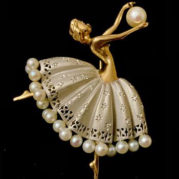 14k Pearl and Diamond Ballerina - Fine Jewelry
