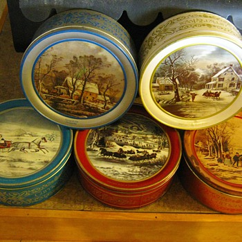 Currier & Ives Tins - Christmas