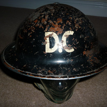 British WW11 Damage Control helmet
