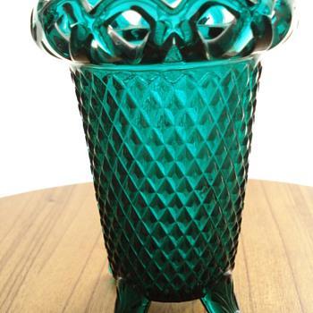 Green glass vase? - Glassware