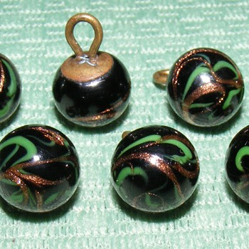 "Glass Waistcoat Ball Buttons - 13/32"" - Sewing"