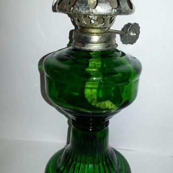 Green Oil Lamp - Lamps