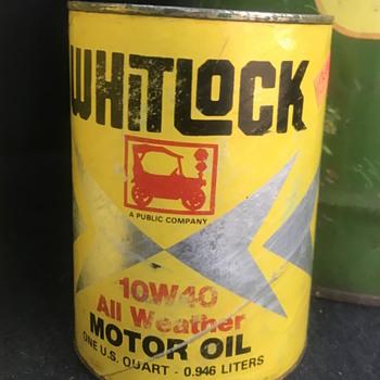 Vintage Whitlock Motor Oil Can - Petroliana