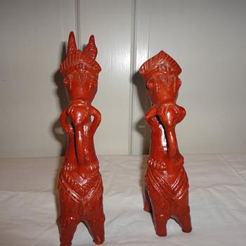 Red Clay Ceramic Donkeys? - Animals