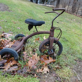 Antique Tricycle, Rusty Gold - Toys