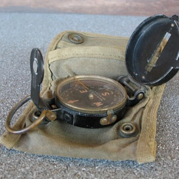 Early WWII Compass, Lensatic circa 1939
