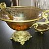 Glass & bronze fruit bowl