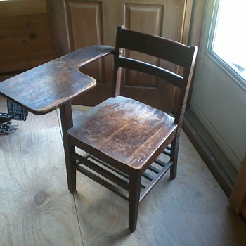 Old wooden school desk - Furniture