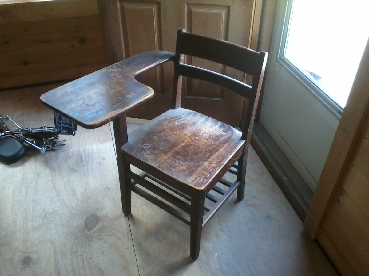 Old wooden school desk | Collectors Weekly