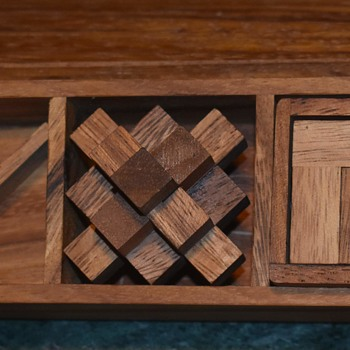 MCM Wooden Puzzle Box - Games