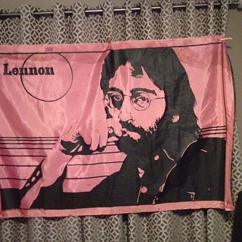 John Lennon silk screen - Music Memorabilia