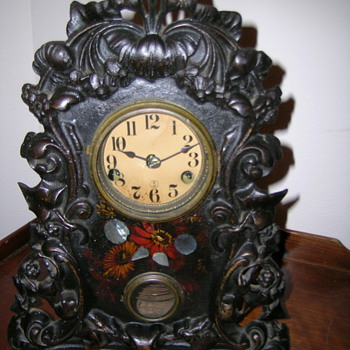 Iron Front Mantel Clock